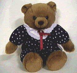 sitting girl teddy bear