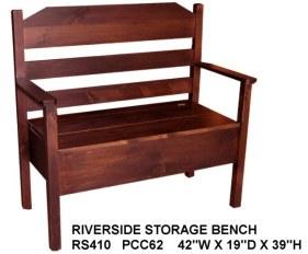 rockwood riverside storage bench