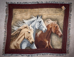 three horse throw
